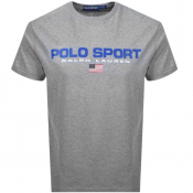 Product Image for Ralph Lauren  Crew Neck Logo T Shirt Grey