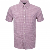 Ralph Lauren Short Sleeved Gingham Shirt Red