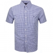 Product Image for Ralph Lauren Short Sleeved Gingham Shirt Blue