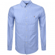 Product Image for Ralph Lauren Long Sleeved Stripe Shirt Blue