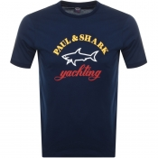Paul And Shark Logo T Shirt Navy