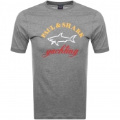 Product Image for Paul And Shark Logo T Shirt Grey
