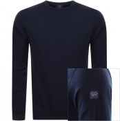 Paul And Shark Crew Neck Sweatshirt Navy