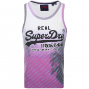 Superdry Vintage Real Logo Vest T Shirt Purple