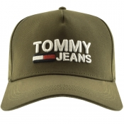 Tommy Jeans Logo Cap Green