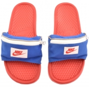 Nike Benassi Just Do It Zip Sliders Red