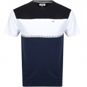 Product Image for Tommy Jeans Colour Block Logo T Shirt Navy