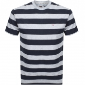 Tommy Jeans Stripe T Shirt Navy