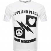 Product Image for Love Moschino Logo T Shirt White