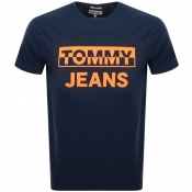 Tommy Jeans Block Logo T Shirt Navy