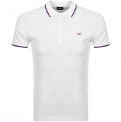 Diesel T Randy Polo T Shirt White