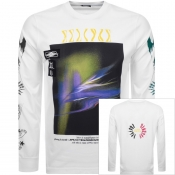 Diesel Long Sleeved T Just A3 Logo T Shirt White