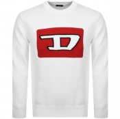 Diesel K LogoX Knit Jumper White