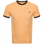 Fred Perry Ringer T Shirt Orange