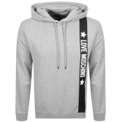 Product Image for Love Moschino Logo Hoodie Grey