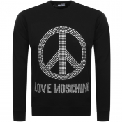 Product Image for Love Moschino Peace Logo Sweatshirt Black