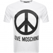 Love Moschino Peace Logo T Shirt White