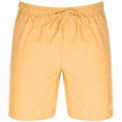Fred Perry Textured Swim Shorts Orange