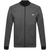 Fred Perry Tipped Bomber Sweatshirt Grey
