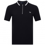 Fred Perry Vinyl Tipped Polo T Shirt Black