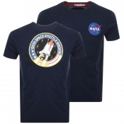 Alpha Industries Space Shuttle Logo T Shirt Navy