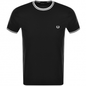 Fred Perry Twin Tipped T Shirt Black