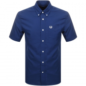 Product Image for Fred Perry Short Sleeved Oxford Shirt Navy