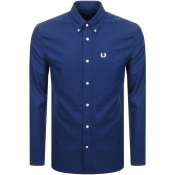 Fred Perry Long Sleeved Classic Oxford Shirt Navy