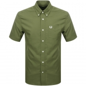 Fred Perry Short Sleeved Oxford Shirt Green