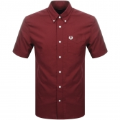 Product Image for Fred Perry Short Sleeved Oxford Shirt Burgundy