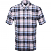 Fred Perry Short Sleeved Madras Check Shirt Pink