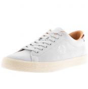 Fred Perry Underspin Suede Trainers Grey