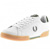 Fred Perry B722 Leather Trainers White