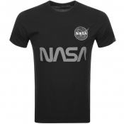 Alpha Industries Nasa Reflective T Shirt Black