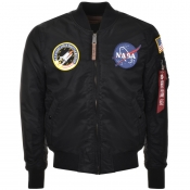 Alpha Industries MA 1 VF NASA Flight Jacket Black