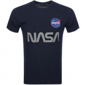 Alpha Industries Nasa Reflective T Shirt Blue