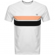 Fred Perry Stripe Logo T Shirt White