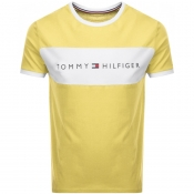 Tommy Hilfiger Lounge Logo Flag T Shirt Yellow