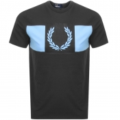 Product Image for Fred Perry Printed Laurel Wreath Logo T Shirt Grey
