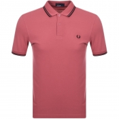 Product Image for Fred Perry Twin Tipped Polo T Shirt Pink