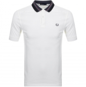 Fred Perry Striped Collar Polo T Shirt White