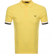 Fred Perry Bold Cuff Polo T Shirt Yellow