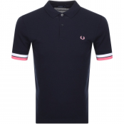 Fred Perry Bold Cuff Polo T Shirt Navy