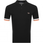 Fred Perry Bold Cuff Polo T Shirt Black