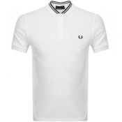 Product Image for Fred Perry Bomber Collar Polo T Shirt White