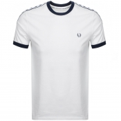Product Image for Fred Perry Taped Ringer T Shirt White