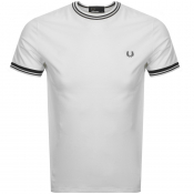 Fred Perry Twin Tipped T Shirt White