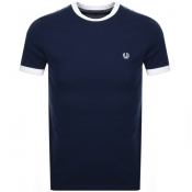 Fred Perry Taped Ringer T Shirt Navy