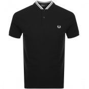 Fred Perry Bomber Collar Polo T Shirt Black
