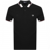 Product Image for Fred Perry Abstract Collar Polo T Shirt Black
